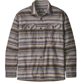 Patagonia Fjord LS Flannel Shirt Men, folk dobby/bristle brown